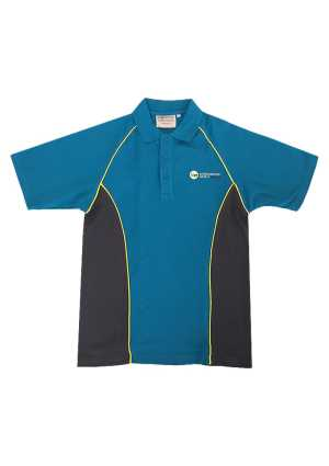 Lemonwood Junior SS Polo Petrel Blue/Charcoal