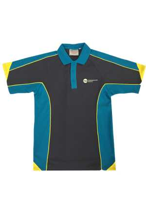 Lemonwood Senior SS Polo Charcoal/Petrel Blue